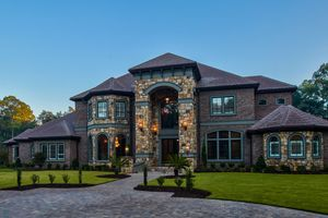 luxury exterior custom home