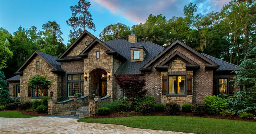 Luxury exteriors ertl homes custom building and home for Luxury home exteriors